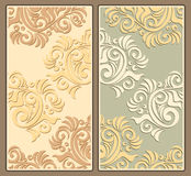 Two decorative background in pastel colors Stock Photo