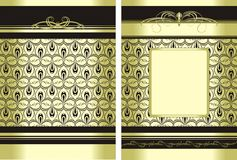 Two decorative backgrounds for wrapping Royalty Free Stock Photos