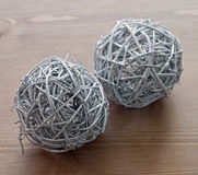 Two decorative balls Royalty Free Stock Images