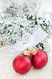 Two decorative christmas ball Stock Images