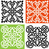 Two decorative crosses black and white. Two ornamental cross black and white template Stock Image