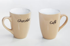 Two decorative cups Royalty Free Stock Photos