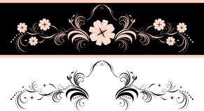 Two decorative floral elements for design Royalty Free Stock Images