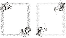 Two decorative frames Royalty Free Stock Photography