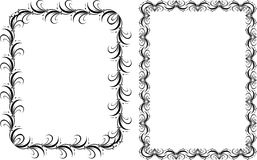 Two decorative frames. Pattern Stock Images