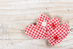 Two decorative heart for Valentines day Royalty Free Stock Images
