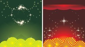 Two decorative holiday backgrounds Stock Photo