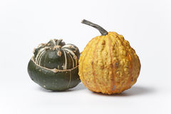 Two decorative pumpkins Royalty Free Stock Images