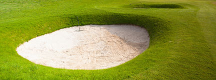 Two deep sand bunkers Royalty Free Stock Photography