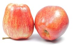 Two delicious apples on white background Royalty Free Stock Photos