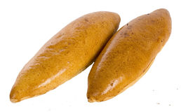 Two delicious baked buns Royalty Free Stock Image
