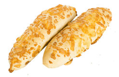 Two delicious baked buns with cheese Stock Photo