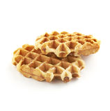 Two delicious belgian sugar waffles Stock Images