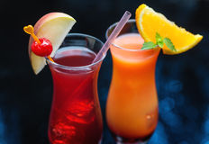 Two delicious cocktails Stock Photos