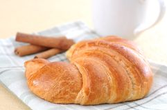 Two delicious croissant Stock Photos