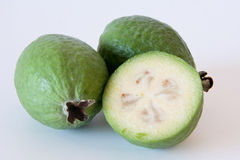 Two Delicious Feijoa Fruit. Royalty Free Stock Images
