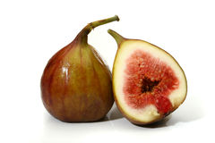 Two delicious figs royalty free stock photography