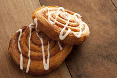 Two delicious freshly baked Danish pastries Stock Image