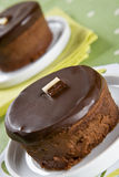 Two delicious homemade chocolate cakes Royalty Free Stock Photo