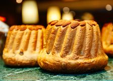 Two delicious Kugelhopf in French Alsace showcase Royalty Free Stock Photography