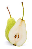 Two delicious pears Stock Photos