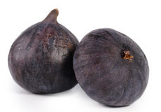 Two delicious ripe purple figs Royalty Free Stock Photo