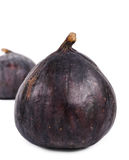 Two delicious ripe purple fresh figs Royalty Free Stock Photo