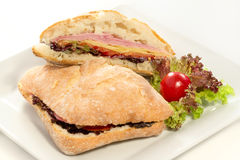 Two delicious sandwiches Stock Image
