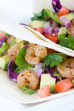 Two delicious shrimp tacos Royalty Free Stock Images