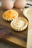 Two delicious sweet mini tarts Stock Image