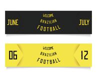 Two design for football tickets Stock Photos