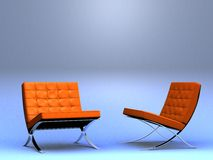 Two designer's chairs Royalty Free Stock Photos