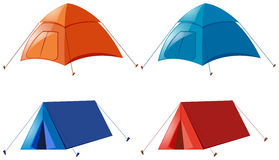 Two designs of camping tent Royalty Free Stock Image