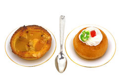 Two dessert. Two small dessert to taste Royalty Free Stock Photo