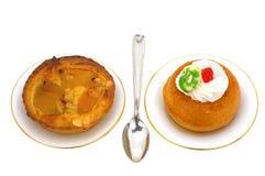 Two dessert Royalty Free Stock Photo