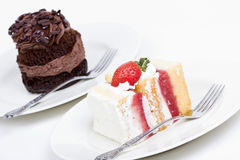 Two dessert cakes Royalty Free Stock Photo