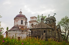 Two destroyed orthodox churches Royalty Free Stock Photos
