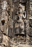 Two Devatas in Bayon Temple Royalty Free Stock Image