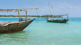 Two Dhow boats Stock Photo