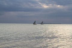 Two Dhows Stock Image