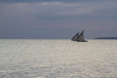Two Dhows Royalty Free Stock Photography