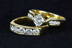 Two diamond ring Royalty Free Stock Photo