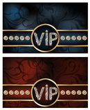 Two diamond VIP card Stock Photos