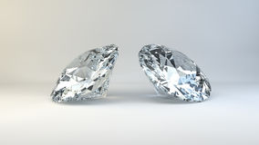 Two diamonds Royalty Free Stock Photos