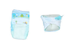 Two diapers Stock Photos