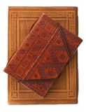 Two Diary Books In Red Brown And Red Leather Royalty Free Stock Photo