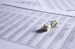 Two dice Royalty Free Stock Photo