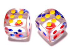 Two dice Royalty Free Stock Images