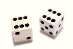Two dice Stock Images