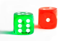 Two dice Stock Photos